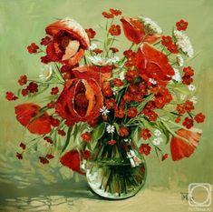 pinturas-modernas-con-flores-rojas-con-espatula_4.jpg (757×750)