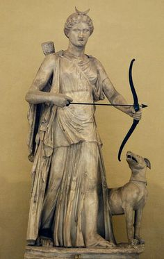 Roman statue of Diana (Artemis) - marble, 2nd century AD, at the Museum of Vatican