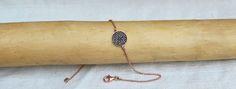 Bracciale in argento 925 galvanizato oro rosa e zirconi neri.