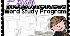 3 Teacher Chicks: Differentiated Word Study Program and Freebie