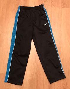 best service 3d4d7 d0038 Nike Boys Size 6 Black Blue Warm Up Pants STRIPS Track Athletic Pants EUC