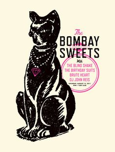 GigPosters.com - Bombay Sweets - Blind Shake, The - Birthday Suits, The - Brute Heart - John Reis
