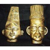Terracotta Farao Mask pair