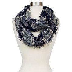 Fashion Scarves Sylvia Alexander PLAID BLK - NAVY