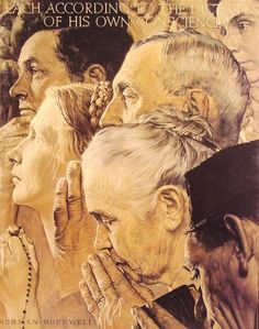Freedom to Worship by Norman Rockwell #art