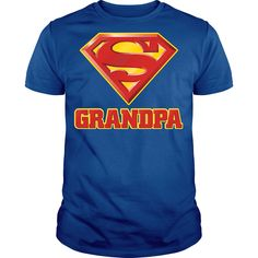 Super Grandpa T Shirt for guy #superman #SuperGrandpa