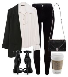 """""""Untitled #6823"""" by laurenmboot ❤ liked on Polyvore featuring River Island, Plein Sud and Yves Saint Laurent"""
