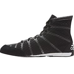 654825f30a0 adidas adizero Mens Boxing Trainer Shoe Boot Black  White
