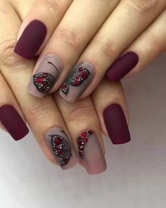 I hope everyone can enjoy these nail designs and share them with your friends, give them inspiration, and let them say goodbye to ordinary nail art. Rose Gold Nails, Matte Nails, Red Nails, Hair And Nails, Acrylic Nails, Stiletto Nails, Gorgeous Nails, Love Nails, Pretty Nails
