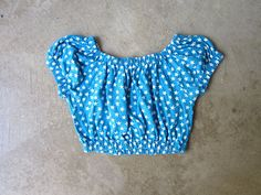 80s Crop Top Blue White STARS Print Top July 4th America Tee Cap Sleeve 1980s Summer Retro Cropped Cotton Top Vintage Beach Top Womens XS S Summer Crop Tops, Top Vintage, Beach Tops, Star Print, S Models, July 4th, Cap Sleeves, 1980s, Blue And White