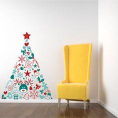 Sticker mural sapin par Insolita sur Chicplace : Des sapins de Noël pas comme les autres - Journal des Femmes