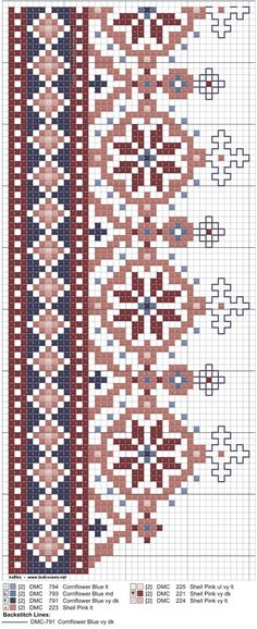 Crewel Embroidery Kits, Beaded Embroidery, Cross Stitch Embroidery, Embroidery Patterns, Cross Stitch Boarders, Cross Stitching, Cross Stitch Patterns, Knitting Charts, Knitting Patterns