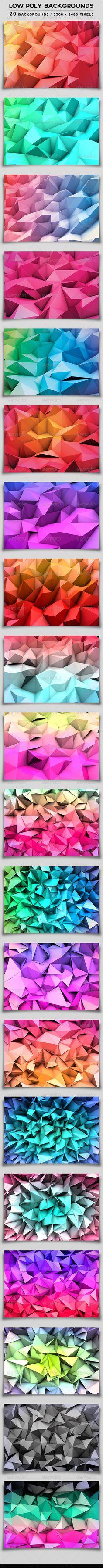 Low Poly Backgrounds by Darius Zan, via Behance Web Design, Design Art, Polygon Art, Design Graphique, Image Hd, Grafik Design, Low Poly, Geometric Art, Graphic Design Inspiration