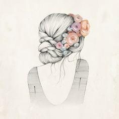 Hipster dessin swag fille comment dessiner une fille etape par etape couronne de fleurs