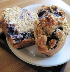 Artful Food: Blueberry Banana Buttermilk Bran Muffins