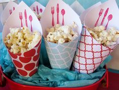 Cooking themed party popcorn display