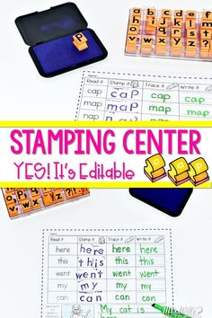 Sight word and word families activities that students love! These worksheets will last you all year! This packet is filled with word study fun! Students will read, stamp, trace, and write 50 emergent high-frequency words and 30 different word families. This is editable so you can add your own sight words or spelling words. Your kindergarten and first-grade students will love these printable centers.