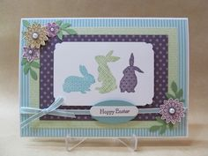 Savvy Handmade Cards: Patterned Bunnies Easter Card