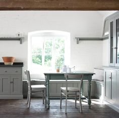The Loft Shaker Kitchen painted in our beautiful Lead colour #deVOLKitchens
