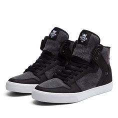 SUPRA VAIDER   BLACK - WHITE   Official SUPRA Footwear Site