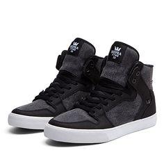SUPRA VAIDER | BLACK - WHITE | Official SUPRA Footwear Site