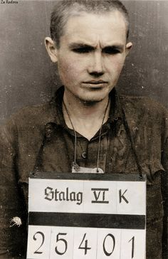 Soviet prisoner-of-war Panasenko, Camp Stalag. Soviet soldiers captured by German troops did not have very good odds at surviving.
