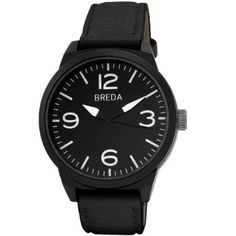 Breda Men's 16880-black Stephen Masculine Bold Bezel Watch: Watches: Amazon.com