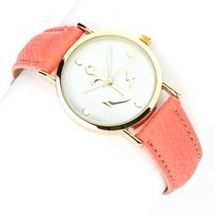 #Coral #Anchor #Watch... Get this from www.katydid.com just in time for #Easter! only $18.95