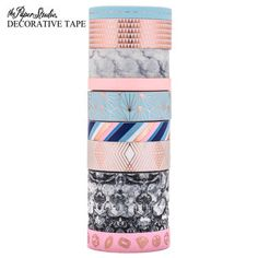Tubo washi media The Paper Studios Wash Tape, Stationary Store, Rose Quartz Serenity, Decorative Tape, Planner Supplies, Cute Stationery, Diy Projects Videos, Print Coupons, Tape Crafts