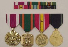 US military ribbon board