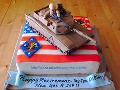 A1-M1 Abrams Retirement cake