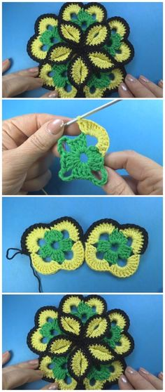 Large Crochet Flower Tutorial - Learn to Crochet - Crochet Kingdom Crochet Flower Tutorial, Crochet Flower Patterns, Crochet Motif, Crochet Designs, Crochet Doilies, Crochet Yarn, Crochet Flowers, Crochet Stitches, Knitting Patterns