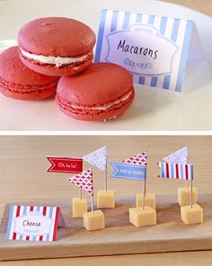 Bastille Day Food Tag DIY, inspired by The Little Paris Kitchen, by Rachel Khoo. Enter the Bastille Day Giveaway at www.chroniclebooks.com/bastilleday