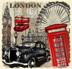 Free Classic cars and travel vintage poster vector 02  vector download