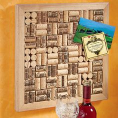 Wine Cork Art Your creation holds memories of favorite bottles.