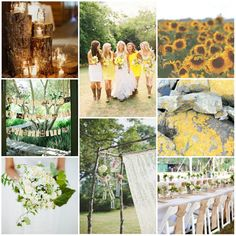 Sunflower + Emerald Wedding Inspiration by L. brook events