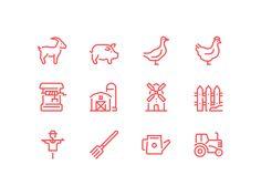 Farm icons by Dmitriy Mir - Dribbble