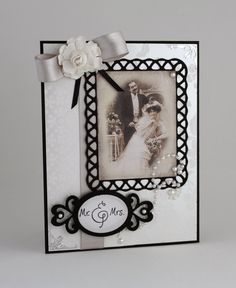 Wedding Card  Handmade Card  Black & White  by CardsbyGayelynn, $6.25