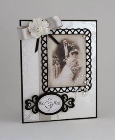 Wedding Card  Handmade Card  Black & White  by CardsbyGayelynn, $6.25