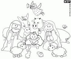 desenho de Nosso presépio de Natal para colorir