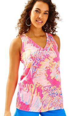 4bd994b64c1aff Jaylynne Top - Lilly Pulitzer Everyday Look, Racerback Tank Top, Lilly  Pulitzer, Knit