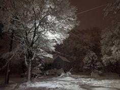 Snowy street in Western Wisconsin