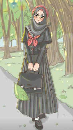 120 Ide Kartun Muslimah Di 2021 Kartun Kartun Hijab Seni Islamis