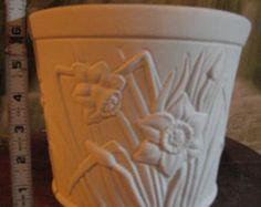 Daffodil Vase, Daffodil Pot, Daffodlil Planter, Flower Pot, garden Pot,Ceramic u-paint, Ready to paint, Bisque u-paint, Ceramic Bisque