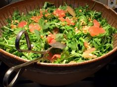 Arugula and Ruby Red Grapefruit Salad, Citrus Agave dressing