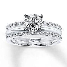 Solitaire-0-25ct-White-Diamond-Enhancer-Engagement-Ring-Wrap-10K-White-Gold