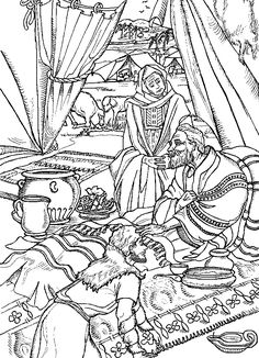 Jacob and Esau coloring page | Home Bible Lessons ...