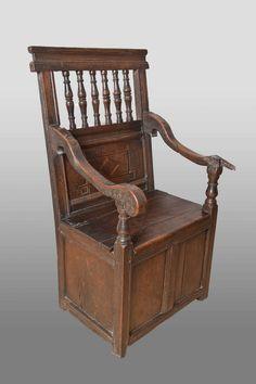 16th century box chair, Marhamchurch antiques