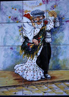 azulejo Verbena de la Paloma, calle del Águila Ceramic Wall Art Tiles, Latin Artists, Art For Art Sake, Wall Art, Culture Art, Painting, Art, Street Art