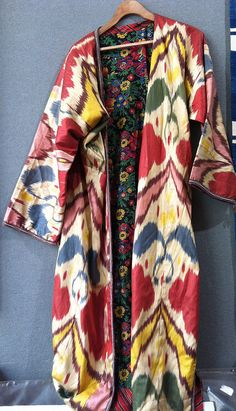 Multi Ikat coat £600